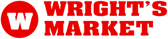 A theme logo of Wright's Market